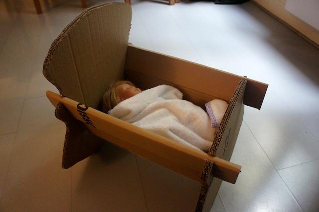 52 Create – Cardboard Doll Crib | Craft Collective