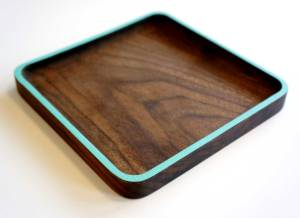 cnc carved dish walnut